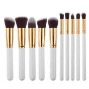 Sunward 10pcs Makeup Brushes Set Powder Foundation Eyeshadow Tool