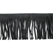 3 Yards 10cm - 1.9cm Wide Brazil Leather Fringe Trims Tassel Trims Double Side for Garment Bag Sewing Craft Supply