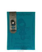 Santoro London Gorjuss Small Embossed Notebook - I Found My Family in a Book