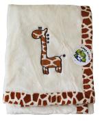 Flush Beige PV Unisex Baby Blanket, Giraffe Design