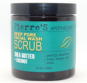 PIERRE'S APOTHECARY Deep Pore Facial Wash Scrub shea butter + coconut 200g