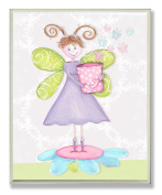 The Kids Room by Stupell Fairy Princess with Pig-Tails Rectangle Wall Plaque