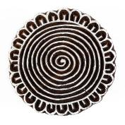 Artistic Spiral Handcraved Wooden Textile Printing Block Clay Potter Craft Heena Tattoo Scrapbook Stamps